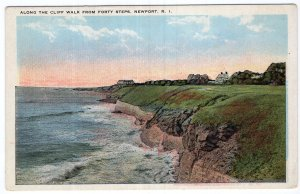 Newport, R.I., Along The Cliff Walk From Forty Steps