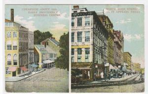 Providence Rhode Island 1843 to 1910c Main Street Compared postcard