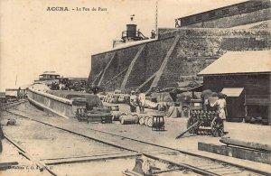 Ghana Gold Coast Accra Harbour Rail Postcard