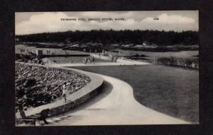 ME Swimming Pool Sebasco Estates Maine Postcard Vintage PC Carte Postale