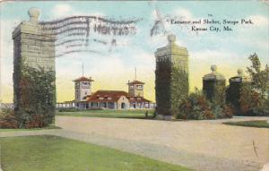 Missouri Kansas City Entrance And Shelter swope Park 1909