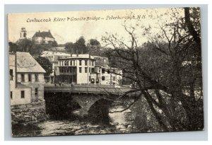Vintage 1900's Photo Postcard Contoocook River Bridge Peterborough New Hampshire