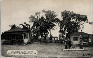 Wilson's Cabin Camp Washington PA State Route 31 Eighty Four PA Postcard F91