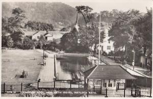 Swimming Pool Matlock New Bath Hotel Real Photo Postcard