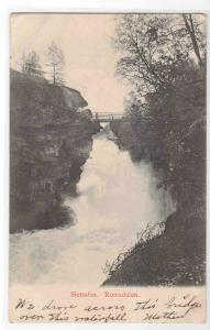 Slettafos Waterfall Bridge Romsdalen Norway 1906 postcard