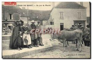 Old Postcard Scenes of Berry A walking day Cows TOP