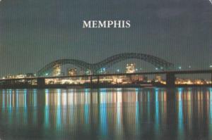 Tennessee Memphis Skyline At Night