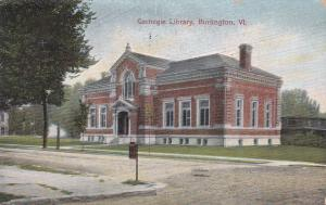 BURLINGTON , Vermont , PU-1909 ; Carnegie Library