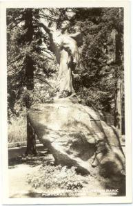 RPPC of the  Sacagawea Monument in Washington Park, Portland, Oregon, OR