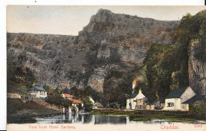 Somerset Postcard - View from Hotel Gardens - Cheddar     BT226