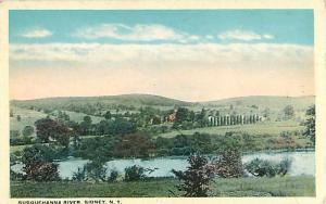 W/B Susquehanna River Sidney NY New York
