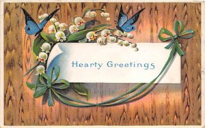 Hearty Greetings Butterfly 1914