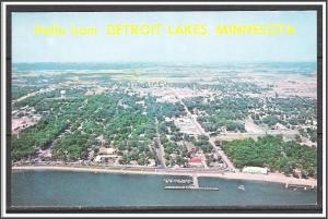 Minnesota, Detroit Lakes Hello From Aerial View - [MN-024]