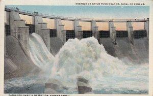 PANAMA, 1900-1910s; Gatun Spillway In Operation
