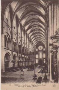 Interior View Nave of St. Remi Church, Reims, France 1900-10s