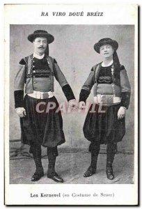 Old Postcard Folklore Kernevel suit Scaer