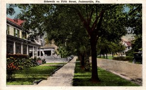 Jacksonville, Florida - Take a stroll on the sidewalk of Fifth Street - in 1923