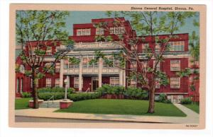 SHARON, Pennsylvania, 1930-1940's; Sharon General Hospital