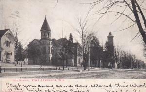 High School, FORT ATKINSON, Wisconsin, PU-1907