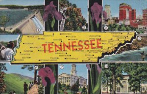 Multible Views Of Tennessee With Map