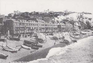 Dover The Marine Parade Sea Bathing Machines History Rare Postcard