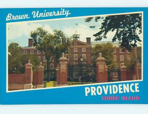 Unused Pre-1980 HALL AT BROWN UNIVERSITY Providence Rhode Island RI L6459