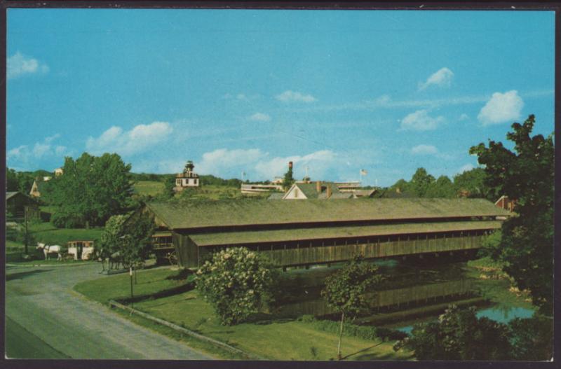 Covered Bridge,Shelburne Museum,Sheburne,VT Postcard