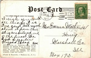 Washington DC Court of Neptune Library of congress Vintage Old  Postcard