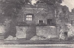 ISLE OF WIGHT, England, 1900-1910's; King Charles 1st Prison Window, Carisbro...