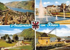 Andernach am Rhein Rheinpartie, Rheinanlagen m. Rheinhotels Wasserpielen