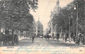 Germany Bremen Soegestrasse Rail Road Tram Carriage Postkarte 1906