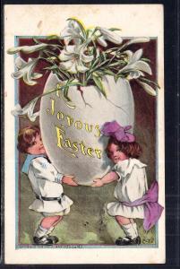 Easter Children Holding Egg BIN