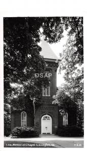 C62/ Lexington Virginia Va Real Photo RPPC Postcard c1950s Lee Memorial Chapel