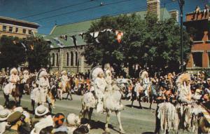 Indians in parade , Calgary , Alberta , Canada , 50-60s