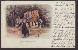 Loaded to the Neck,Donkey Children Postcard