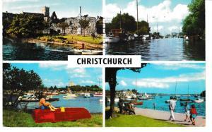 Post Card Dorset CHRISTCHURCH 4 views PLC2658