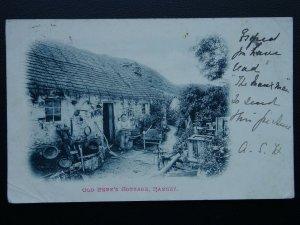 Isle of Man RAMSEY Old Pete's Cottage c1903 UB Postcard