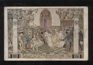 068228 RUSSIA Fairy ART NOUVEAU by SHCHEGLOV vintage