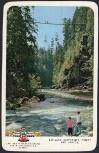 BC Capilano Suspension Bridge and Canyon NORTH VANCOUVER Chrome 1950s-1970s