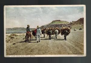 1912 Postcard Cover Native American Indian Hopi Wood Train
