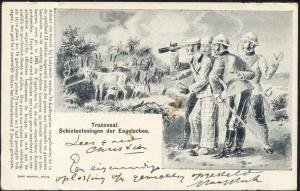 BOER WAR, Caricature, English Shooting Exercises on Goats (1899)