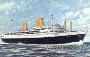 MS Europa Ship Writing on back