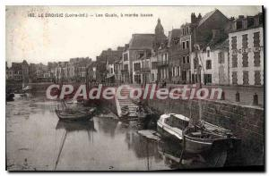 Postcard Old Croisic Loire Inf The low tide Quays
