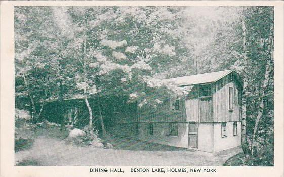 New York Holmes Dining Hall Denton Lake 1954