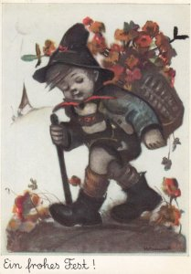HUMMEL ; Ein frohes Fest! , Boy , 1940s