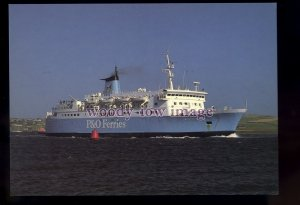 FE3379 - P&O Ferries Ferry - St Sunniva , built 1972 ex N F Panther - postcard