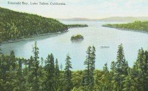 C.1910-20 Emerald Bay, Lake Tahoe, Calif. Vintage Postcard P105