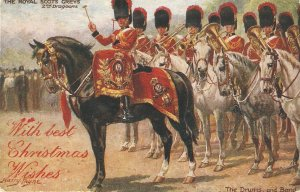 Harry Payne. The Royal Scots Greys , The Drums and  . Horses Tuck Oilette PC #