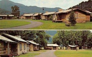 WAYNESVILLE, NC North Carolina PIONEER COTTAGES Roadside c1960's Chrome Postcard