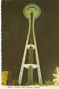 Washington Seattle Space Needle and Seattle Center At Night